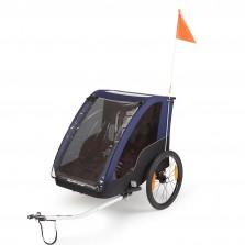 Polisport kids trailer voor fietsen en wandelen grey / blue