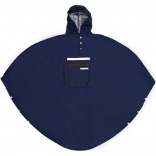 Peoples Poncho navy volw