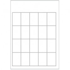 Prijskaartvel - A4 - 20 kaarten per vel